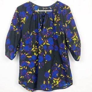 Anthropologie Yumi Kim Silk Floral Blouse